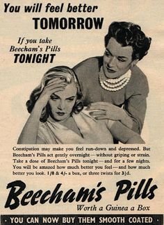 Vintage Scans: Beechams. From Illustrated- w/e November 1st, 1952.
