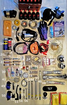 How to pack an adventure bike tool kit and spares: By two doctors biking the world #Packinglist