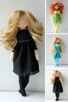 Bonita Fabric doll Black doll Birthday doll por AnnKirillartPlace