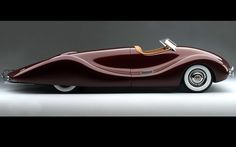 1947 Timbs. Designed by Norman E. Timbs, this super-sleek streamlined vehicle featured a contoured cockpit without doors. Picture: HIGH MUSEUM OF ART/CATERS NEWS...