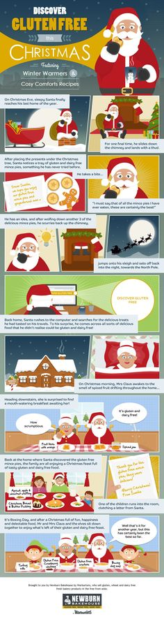Discover Gluten Free this Christmas #infographic #Christmas #Food