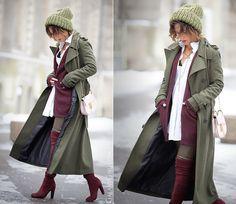 Galant-Girl Ellena - Chloé Bag, Stuart Weitzman Over The Knee Boots - Military Coat.  | LOOKBOOK
