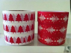 CHRISTMAS TREE WASHI TAPE: CHOOSE FROM 2 DIFFERENT PATTERNS- BRAND NEW