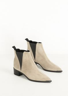 Acne Studios Jensen Suede Ankle Boot (Beige)