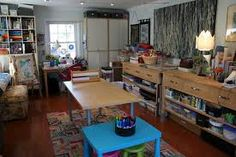 Another great small art studio design.