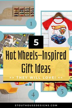 Looking for perfect Hot Wheels gift ideas? We've rounded up our top 5 Hot Wheels gifts under $100! These toddler gifts range from boys car wall decor to creative Hot Wheels storage, you'll find that all these ideas are perfect for every boys car themed bedroom! #personalizedgifts #hotwheels #boysroom #toddlergifts #kidsroom #giftideas