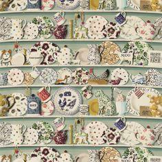 British  Wallpapers - Emma Bridgewater The Dresser Fabric Duck Egg/Multi DEMB223457, £50.00 (http://www.britishwallpapers.co.uk/emma-bridgewater-the-dresser-fabric-duck-egg-multi-demb223457/)
