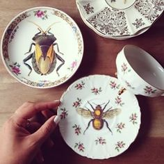 Add quirky decals to vintage plates.   19 DIY Gifts For The Classiest Person You Know