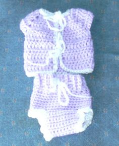 Preemie Crocheted Going home outfit/free pattern