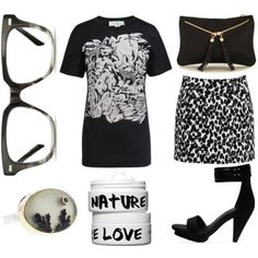 """""""Black & white"""" by consciouslychic on Polyvore"""