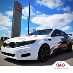 Dan Sprongl is racing the Optima EX-Turbo with 274hp and 269 ft-lb of torque this month! #KiaRacing