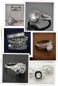 Instagram Estate Diamond Jewelry http://www.vogue.fr/mariage/bijoux/diaporama/mariage-compte-bagues-de-fiancailles-vintage-sur-instagram/21897/image/1137127