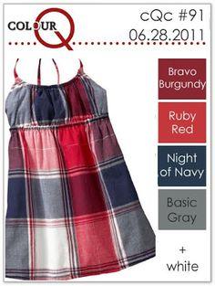 colourQ #91: June 2011 Bravo Burgundy Ruby Red Night of Navy Basic Gray
