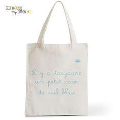 Tote Bag Rock my Citron,  Coin de Ciel Bleu, Cadeaux Fêtes, Anniversaires, Naissances