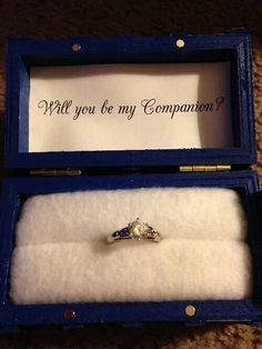 Either than or the girl who waited lol  Doctor Who engagement ring and box