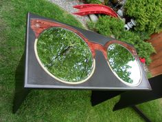 clubmaster style eyewear display table