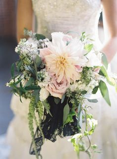 Dahlia and Greenery Bouquet | photography by http://judypak.com | floral and event design by http://michelleedgemont.com/