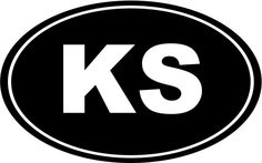 Kansas KS Oval Die-Cut Decal Car Window Wall Bumper Phone Laptop