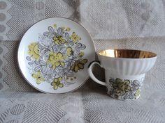 Vintage Lomonosov Porcelain, Imperial Porcelain Factory, Tea/Coffee Cup and Saucer, Floral Design, Gold, St Petersburg, Russia, USSR, 70s by VintageInspiresYou on Etsy