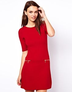 Image 1 of Warehouse 60'S Zip Shift Dress