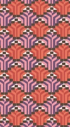 geometric wallpaper like this for one wall in a room would be perf. doing it when i get a new home!