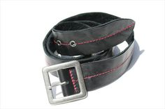 centre stitch belt - red stitch Leather Accessories, Leather Bag, Centre, Leather Bag Men, Leather Products, Leather Bags