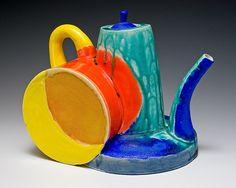 frank martin Pottery Teapots, Ceramic Teapots, Contemporary Teapots, Contemporary Art, Frank Martin, Kettles, My Cup Of Tea, Art Object, Tea Time