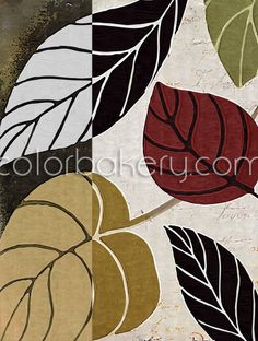 Leaf Story #homedecor Part of a mix and match modern art pattern series available on all our products as well as for art licensing.