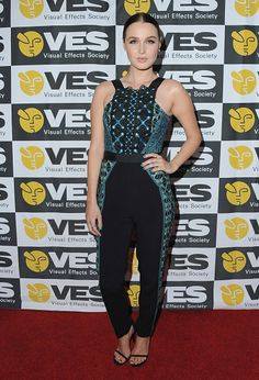 Fabulously Spotted: Camilla Luddington Wearing Peter Pilotto - 2016 VES Awards - http://www.becauseiamfabulous.com/2016/02/04/3188577/