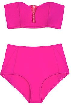 For the athletic figures, this Shakuhachi high-waist bikini brief is flattering and feminine. #style