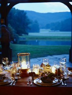 The Farmhouse at Blackberry Farm is an ideal spot for an outdoor dinner overlooking the property.
