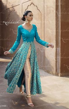 Charming Aqua Blue Wedding Designer Salwar Kameez