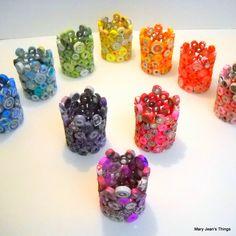LISTADO DE PERSONAL 10 Papel velas sin llama Votives Upcycled - un arco iris de colores