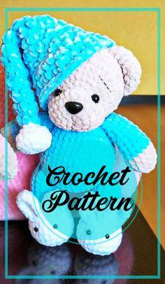 Crochet Teddy Bear Pattern Free, Teddy Bear Patterns Free, Crochet Bear Patterns, Amigurumi Patterns, Free Pattern, Cute Crochet, Crochet Dolls, Teddy Bear Clothes, Beginner Crochet Projects