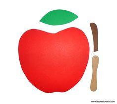 Jablíčko - šablona
