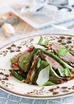 En salat med den skønneste marinade og lunt andebryst. Perfekt til julefrokostbordet