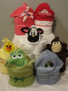 Animal Hooded Towels over 65 to choose from. Its a Baby Thing found on Facebook. Starting at $25