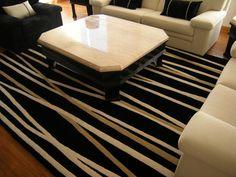 Alfombra Bambú. De la Colección Lineal. Fabricada en lana de oveja 100%. #alfombras #rugs #livingdesign