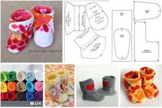 19 ideas for baby crochet socks projects Felt Baby Shoes, Crochet Baby Shoes, Baby Girl Shoes, Crochet Socks, Doll Shoe Patterns, Baby Shoes Pattern, Sewing Kids Clothes, Sewing For Kids, Baby Sewing Projects