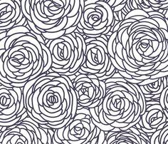 Vintage floral pattern fabric by fleurpaperco on Spoonflower - custom fabric