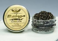 Beluga Sturgeon Hybrid Caviar, Rated Top Black Caviar in the World, Exclusively from OLMA - 1 Ounce - Overnight Delivery Beluga Vodka, Beluga Caviar, Beluga Sturgeon, Osetra Caviar, Overnight Delivery, Different Recipes, 1 Oz, Gourmet Recipes, Amigos