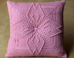 Patrón de borraja 12 Crochet cuadrados almohada  listo