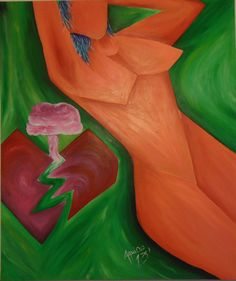 """""""He believed in LOVE"""" 1.20 mts. X 1.20 mts. approx, Acrylic on canvas"""