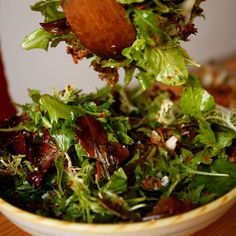 Mesclun Salad with Fried Shallots and Blue Cheese | Food & Wine