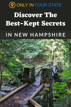 Discover the best-kept secrets and hidden gems in New Hampshire. You'll find beautiful hiking trails, charming shops, and more on this list. Family Vacations, Best Vacations, Vacation Destinations, Vacation Ideas, New Hampshire Attractions, Waterfall Trail, Hidden Beach, Best Kept Secret, Covered Bridges