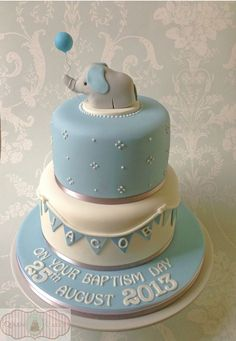 how to make christening cake - Google Search