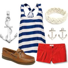 Nice & Nautical, created by qtpiekelso on Polyvore