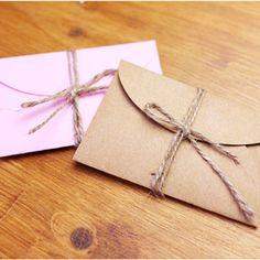 50pcs/set Vintage Love small Brown Pink  Kraft  blank mini paper envelopes wedding invitation envelope /gilt envelope/2 color