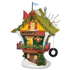 X - Disney Village - Mickey's Tree House - Disney Christmas Village, Mickey Mouse Christmas, Christmas Village Houses, Christmas Store, Christmas Villages, Christmas Crafts, Christmas Decorations, Holiday Decor, Merry Christmas