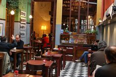 Libros del Pasaje in Palermo. This is a charming bookstore and café with high ceilings and dark wooden bookshelves displaying carefully chosen literature.
